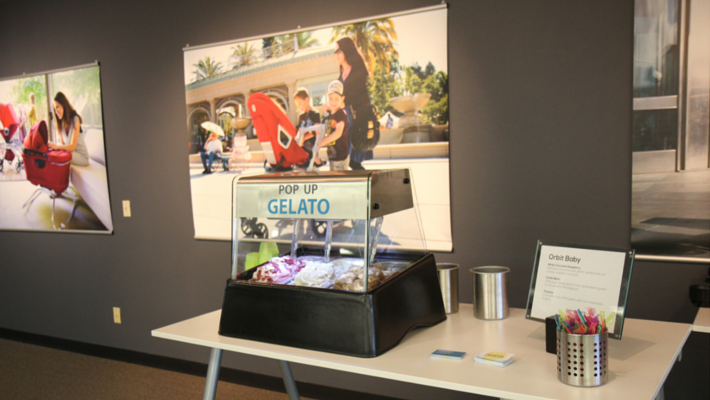Corporate Catering Pop Up Gelato